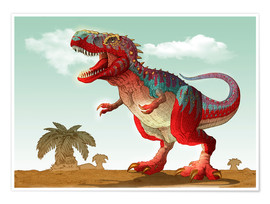 Poster  Colorful Tyrannosaurus Rex