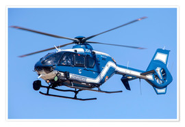 Poster Premium  French police/gendarmerie EC135 helicopter in flight over France. - Timm Ziegenthaler