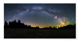Poster Premium Milky Way arching over the trees