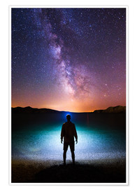 Poster  Milky Way Headlamp Portrait - Matthias Köstler