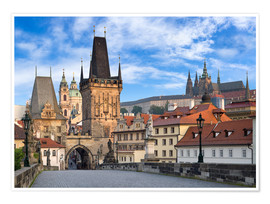 Poster  Prague Castle and Old Town in summer - Jan Christopher Becke