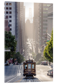 Stampa su vetro acrilico  Cable Car di San Francisco - Matteo Colombo