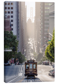 Stampa su tela  Cable Car di San Francisco - Matteo Colombo