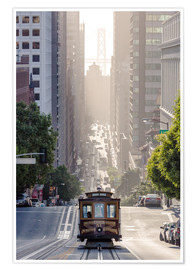 Poster Premium  Cable Car di San Francisco - Matteo Colombo