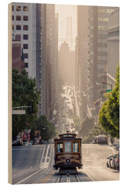 Legno  Cable car in San Francisco - Matteo Colombo