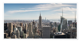 Poster Premium  Manhattan skyline with Empire State Building - Matteo Colombo