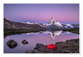 Poster Premium  Sunrise at Matterhorn - Valais, Switzerland - Achim Thomae