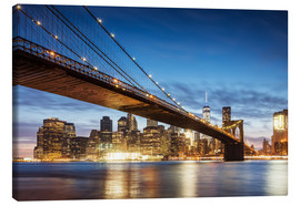 Tela  Brooklyn bridge and Manhattan at night, New York city, USA - Matteo Colombo