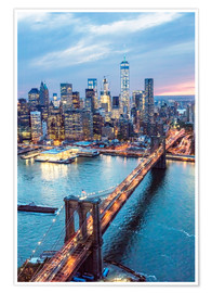 Poster Premium  Ponte di Brooklyn e Lower Manhattan - Matteo Colombo