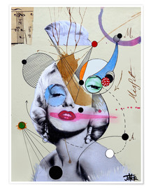Poster  marylin for the abstract thinker - Loui Jover