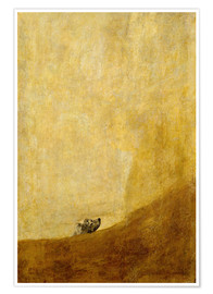 Poster  dog - Francisco José de Goya