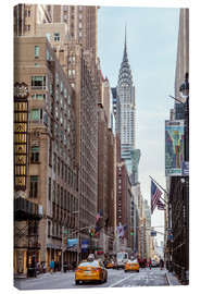 Stampa su tela  Road at the Chrysler Building - Matteo Colombo