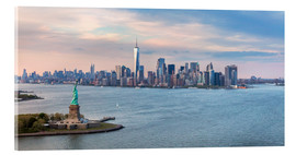 Vetro acrilico  New York skyline with Statue of Liberty - Matteo Colombo