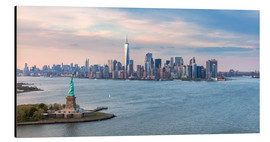 Alluminio Dibond  New York skyline with Statue of Liberty - Matteo Colombo