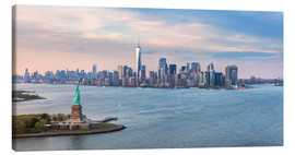 Tela  New York skyline with Statue of Liberty - Matteo Colombo