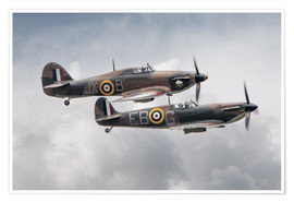 Poster Premium BBMF SPit and Hurry