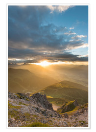 Poster Premium Sunset in the Tyrolean Alps
