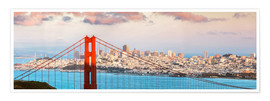Matteo Colombo - Panoramic sunset over Golden gate bridge and San Francisco bay, California, USA