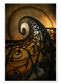 Poster Premium Old spiral staircase