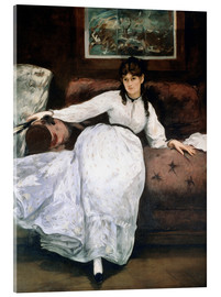Stampa su vetro acrilico  The rest or Portrait of Berthe Morisot - Edouard Manet