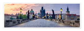 Poster  Charles Bridge in Prague Panorama - Jan Christopher Becke