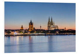 Stampa su PVC  Summer evening in Cologne - Michael Valjak