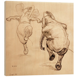Legno  Two dancing elephant - Heinrich Kley
