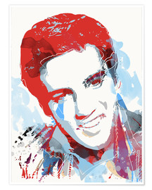 Poster  alternative elvis presley pop art print - 2ToastDesign