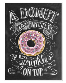Poster Premium  A Donut is Happiness - Lily & Val
