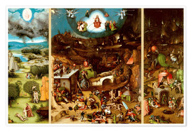 Poster Premium  The Last Judgement - Hieronymus Bosch