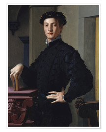 Poster Premium portrait of a young man
