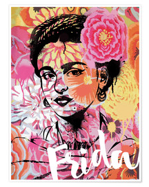 Poster Premium Frida Pop Art