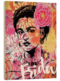 Legno  Frida Kahlo ethnic pop art floral illustration - Nory Glory Prints