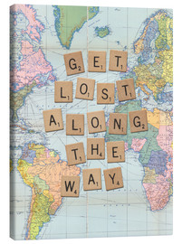 Stampa su tela  Get lost along the way scrabble letters art - Nory Glory Prints