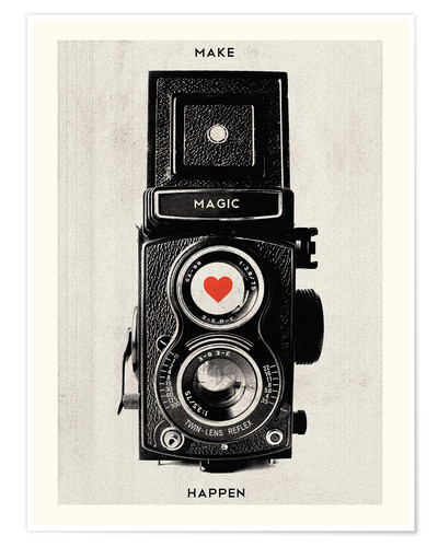 Poster Premium Vintage retro camera photographic art print