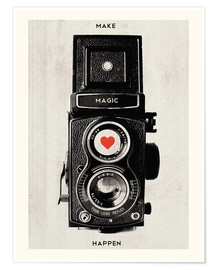 Poster Premium  Vintage retro camera photographic art print - Nory Glory Prints