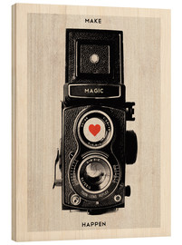 Stampa su legno  Vintage retro camera photographic art print - Nory Glory Prints