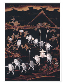 Poster Premium  Procession of frogs