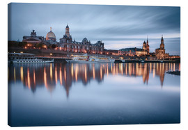 Stampa su tela  Dresden old town at the blue hour - Philipp Dase