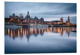 Stampa su schiuma dura  Dresden old town at the blue hour - Philipp Dase