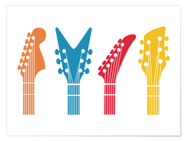 Poster  Guitar headstocks - Nory Glory Prints