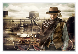 Poster Premium  Gunslinger of the Wild West