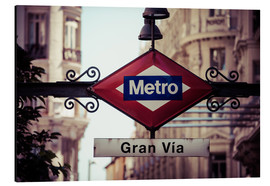 Alluminio Dibond  Metro sign - Madrid