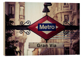 Legno  Metro sign - Madrid