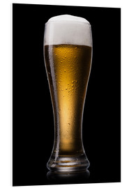 Stampa su schiuma dura  Beer into glass