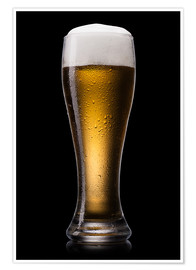 Poster Premium  Beer into glass