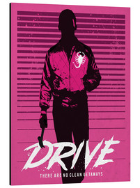 Alluminio Dibond  Drive ryan gosling movie inspired art print - Golden Planet Prints