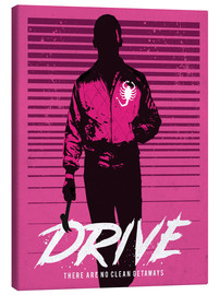 Tela  Drive ryan gosling movie inspired art print - Golden Planet Prints