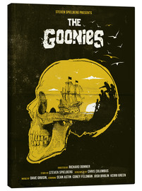 Tela  The Goonies movie inspired skull never say die art - Golden Planet Prints