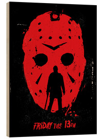 Stampa su legno  Friday the 13th - Golden Planet Prints
